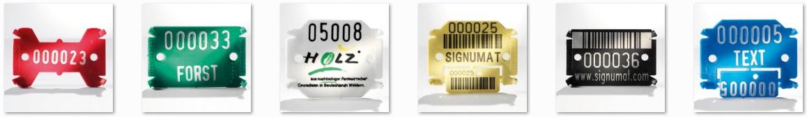 Placute de marcare Signumat - magazin forestier Verdon