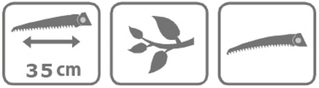 Caracteristici Ferastrau cu maner umbrela 35 cm