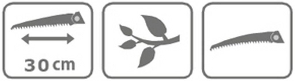 Caracteristici Ferastrau cu maner umbrela 30 cm
