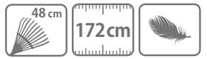 Caracteristici grela pentru furnze Stocker cu coada din aluminiu 172 cm