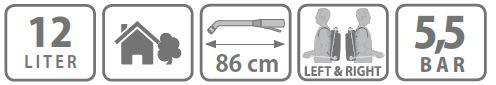 Pompa manuala de presiune Stocker 12l