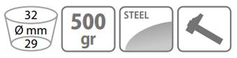 Caracteristici sapa Stocker 500 g cu lama patrata doi colti si coada de lemn
