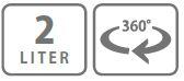 Caracteristici pompa manuala de presiune 360° cu rezervor 2 litri