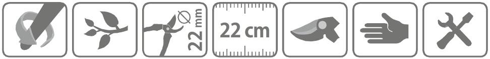 Caracteristici foarfeca profesionala pentru taiere 22 cu maner pivotant