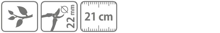 Caracteristici foarfeca profesionala cu doua taisuri 21 cm
