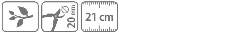 Caracteristici foarfeca profesionala pentru taiere 21 cm