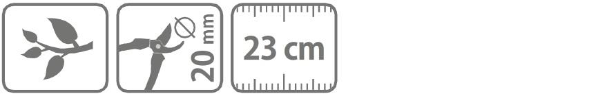 Caracteristici foarfeca profesionala pentru taiere 23 cm