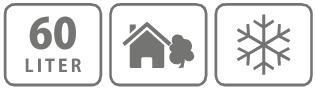Caracteristici carucior de imprastiat 60 l.