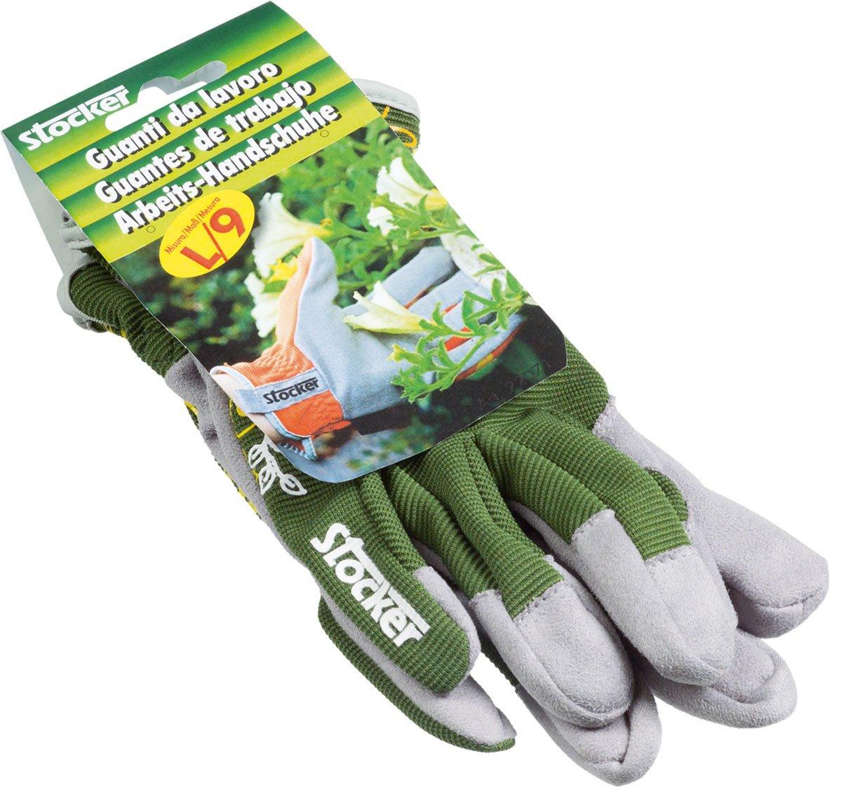 Manusi de gradina Garden Leather verde - Verdon