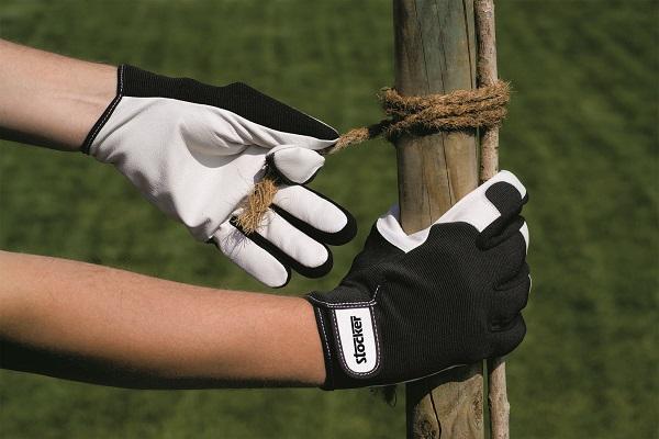 Manusi de lucru palma din piele naturala negru - Verdon