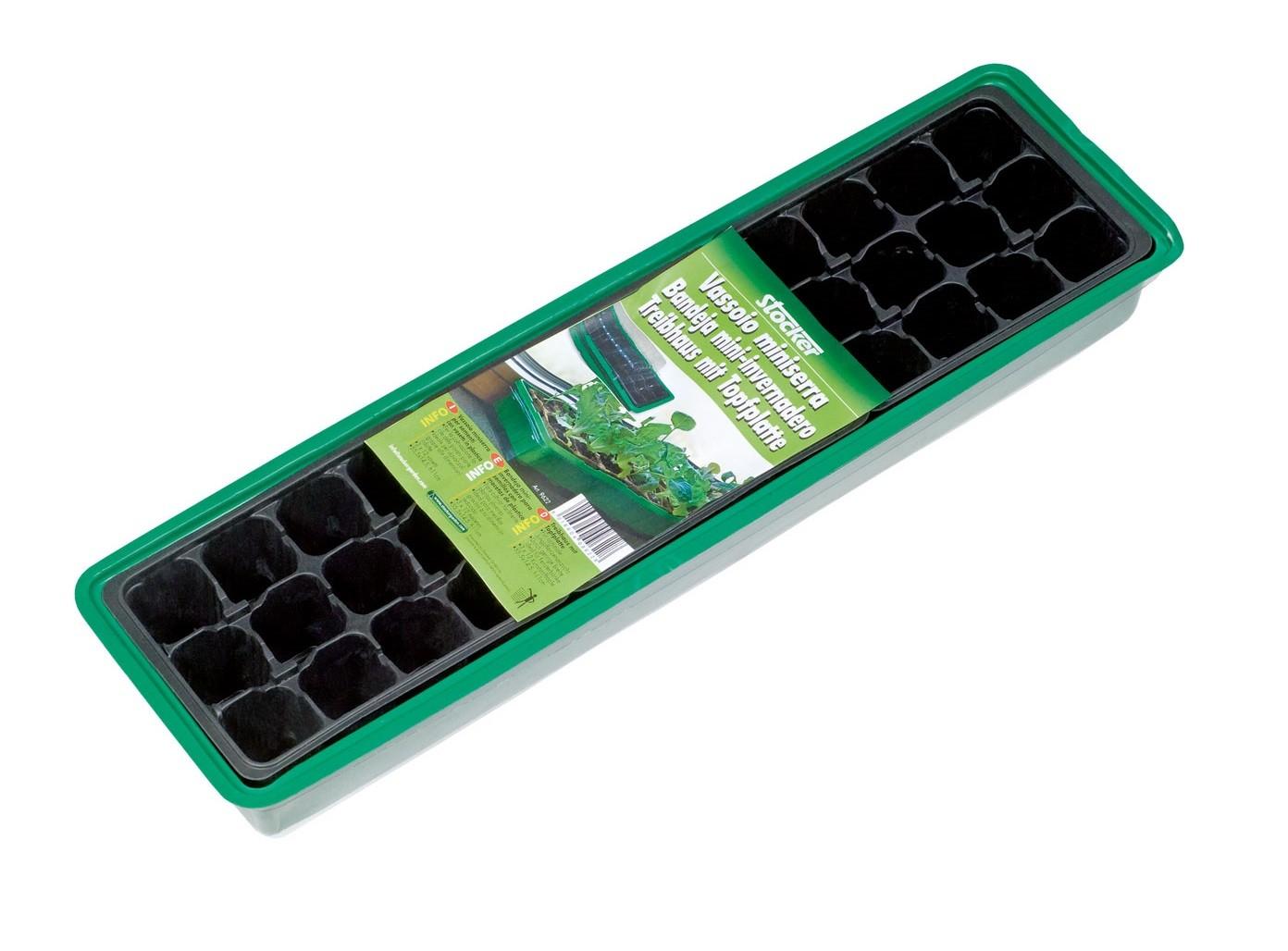 Tavita din plastic pentru semanat Stocker (3 x 4 gauri)