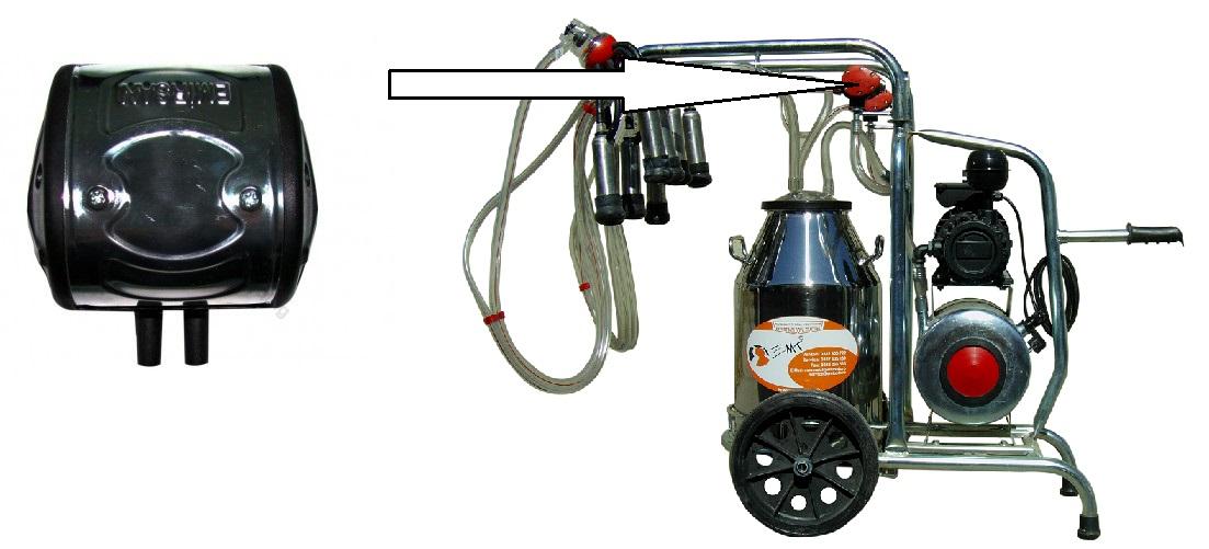 Pulsator mixt pentru aparatele de muls