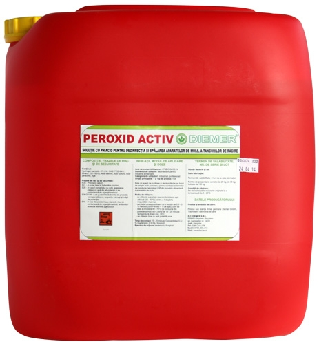 Dezinfectant detartrant pentru aparate de muls Peroxid